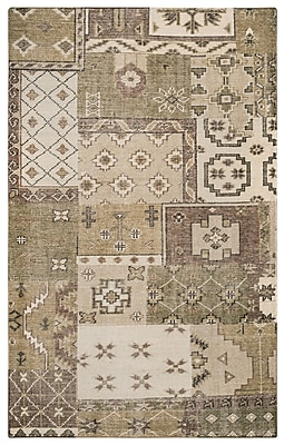 Rizzy Home Maison Collection Hand-Spun New Zealand Wool 5'x8' Ivory/Khaki (MSNMS866200040508)