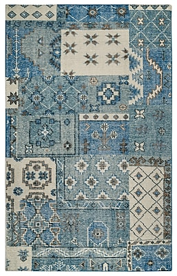 Rizzy Home Maison Collection Hand-Spun New Zealand Wool 9'x12' Blue (MSNMS866300090912)