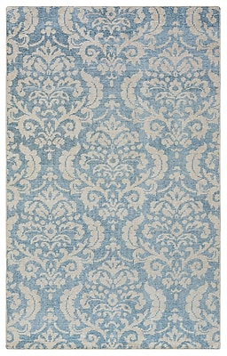 Rizzy Home Maison Collection Hand-Spun New Zealand Wool 5'x8' Blue/Aqua (MSNMS866533370508)