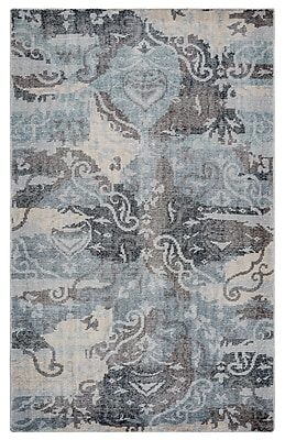 Rizzy Home Maison Collection Hand-Spun New Zealand Wool 2' x 3' Gray/Black (MSNMS866700160203)