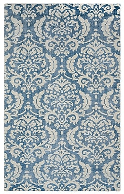 Rizzy Home Maison Collection Hand-Spun New Zealand Wool 9'x12' Blue (MSNMS867609040912)