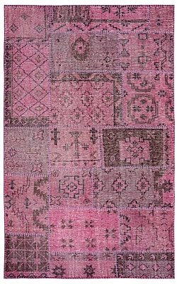 Rizzy Home Maison Collection Hand-Spun New Zealand Wool 5'x8' Pink (MSNMS8934PU000508)