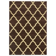 "Rizzy Home Millington  Collection 100% Polypropylene 6'7""x9'6"" Brown (MGTMG4777BR006796)"