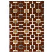 "Rizzy Home Millington  Collection 100% Polypropylene 6'7""x9'6"" Rust (MGTMG4780RU006796)"