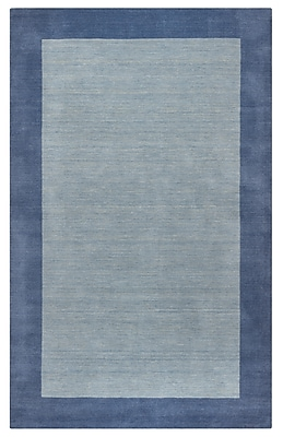 Rizzy Home Platoon Collection New Zealand Wool Blend 5'x8' Light Blue (PLAPL284900430508)
