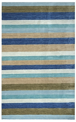 Rizzy Home Platoon Collection New Zealand Wool Blend 5'x8' Multi-Colored (PLAPL312900090508)