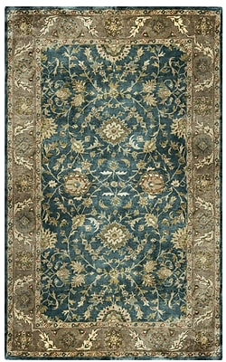 Rizzy Home Shine Collection 100% Semi-Worsted New Zealand Wool 5'x8' Blue/Dark Teal (SHISN034900810508)