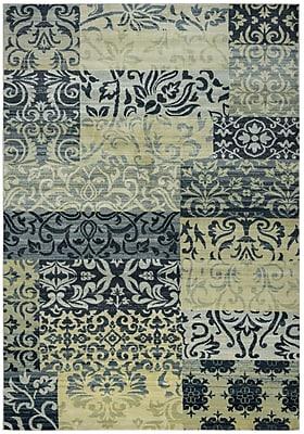 "Rizzy Home Sorrento Collection 100% Heat-Set Polypropylene 6'7""x9'6"" Khaki (SRTSO428300546796)"