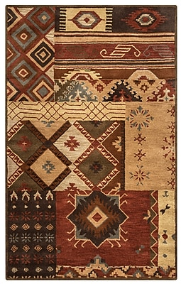 Rizzy Home Southwest Collection 100% Wool 9'x12' Multi-Colored (SOWSU151900120912)