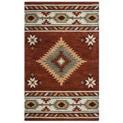 Rizzy Home Southwest Collection 100% Wool 5'x8' Rust (SOWSU182200560508)