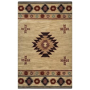 Rizzy Home Southwest Collection 100% Wool 9'x12' Khaki (SOWSU200700040912)