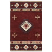 Rizzy Home Southwest Collection 100% Wool 3' x 5' Burgundy (SOWSU200900700305)