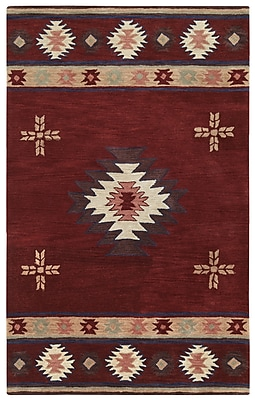 Rizzy Home Southwest Collection 100% Wool 8'x10' Burgundy (SOWSU200900700810)