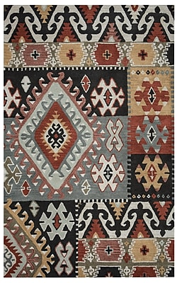 Rizzy Home Southwest Collection 100% Wool 8'x10' Multi-Colored (SOWSU810400330810)