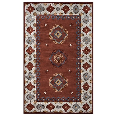 Rizzy Home Southwest Collection 100% Wool 9'x12' Rust (SOWSU9007RUCR0912)