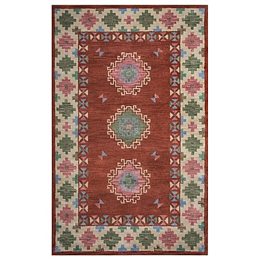 Rizzy Home Southwest Collection 100% Wool 3' x 5' Rust (SOWSU9008RUCR0305)