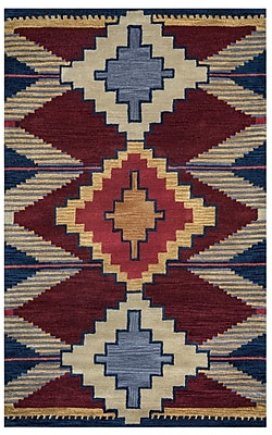 Rizzy Home Southwest Collection 100% Wool 9'x12' Multi-Colored (SOWSU901000700912)