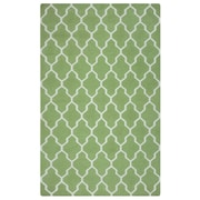 Rizzy Home Swing Collection New Zealand Wool Blend 5'x8' Green (SWISG210000470508)