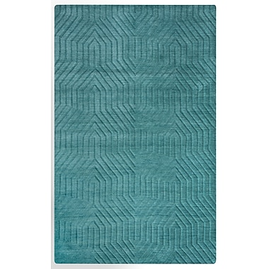 Rizzy Home Technique Collection 100% Wool 9'x12' Blue/Dark Teal (TECTC8577AA000912)
