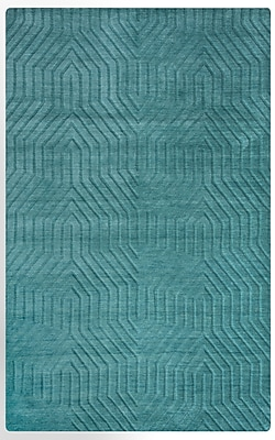 Rizzy Home Technique Collection 100% Wool 2' x 3' Blue/Dark Teal (TECTC8577AA000203)