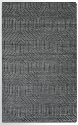 Rizzy Home Technique Collection 100% Wool 9'x12' Dark Gray (TECTC857833000912)
