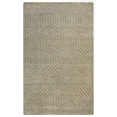 Rizzy Home Technique Collection 100% Wool 2' x 3' Tan (TECTC858000040203)