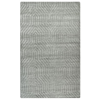 Rizzy Home Technique Collection 100% Wool 2' x 3' Light Gray (TECTC858100040203)