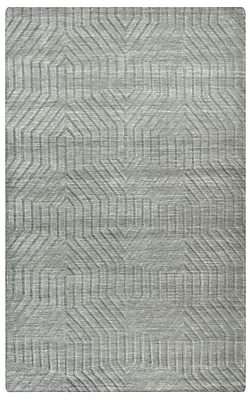 Rizzy Home Technique Collection 100% Wool 5'x8' Light Gray (TECTC858100040508)