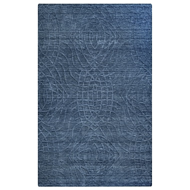 Rizzy Home Uptown Collection New Zealand Wool Blend 2' x 3' Blue (UPTUP2439ID000203)