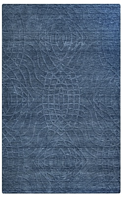 Rizzy Home Uptown Collection New Zealand Wool Blend 9'x12' Blue (UPTUP2439ID000912)