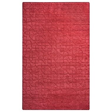 Rizzy Home Uptown Collection New Zealand Wool Blend 2' x 3' Red (UPTUP245300700203)