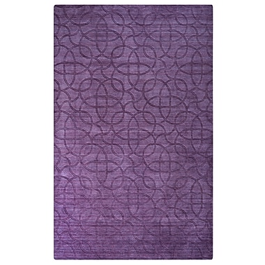 Rizzy Home Uptown Collection New Zealand Wool Blend 9'x12' Purple (UPTUP245400660912)