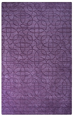 Rizzy Home Uptown Collection New Zealand Wool Blend 2' x 3' Purple (UPTUP245400660203)