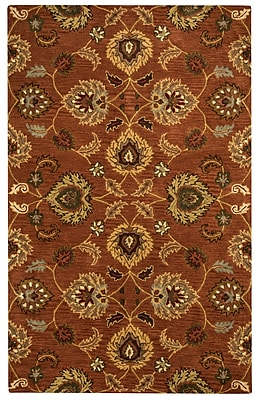 Rizzy Home Valintino Collection 100% Wool 5'x8' Rust (VNTVN945300750508)