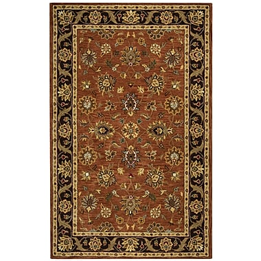 Rizzy Home Valintino Collection 100% Wool 9'x12' Rust (VNTVN945675120912)