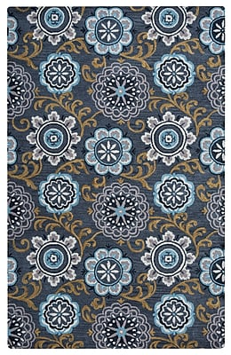 Rizzy Home Valintino Collection 100% Wool 5'x8' Multi-Colored (VNTVN9458DR000508)