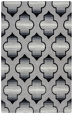 Rizzy Home Valintino Collection 100% Wool 5'x8' Gray (VNTVN950800330508)