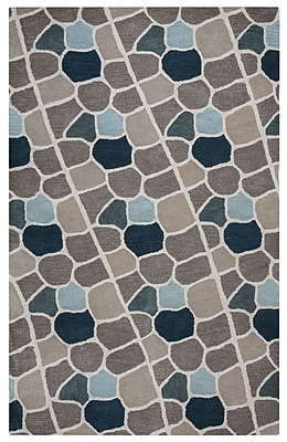 Rizzy Home Valintino Collection 100% Wool 5'x8' Multi-Colored (VNTVN950900TA0508)