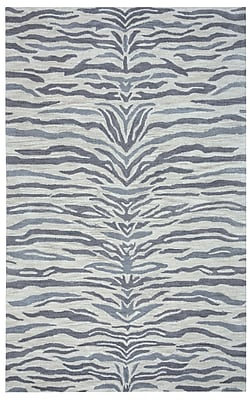 Rizzy Home Valintino Collection 100% Wool 9'x12' Light Gray (VNTVN964900330912)