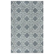 Rizzy Home Valintino  Collection 100% Wool 9'x12' Blue (VNTVN968800460912)