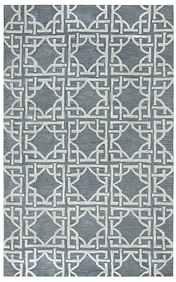 Rizzy Home Valintino Collection 100% Wool 8'x10' Blue (VNTVN968800460810)
