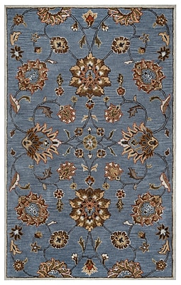 Rizzy Home Valintino Collection 100% Wool 9'x12' Blue (VNTVN970800520912)