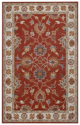Rizzy Home Valintino Collection 100% Wool 5'x8' Rust (VNTVN9713BO000508)