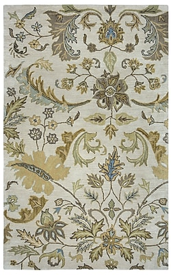 Rizzy Home Volare Collection 100% Wool 8'x10' Ivory (VOLVO160700040810)