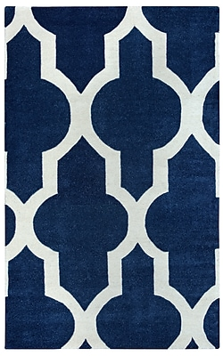 Rizzy Home Volare Collection 100% Wool 5'x8' Navy (VOLVO213200570508)