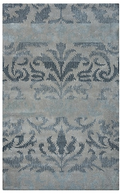 Rizzy Home Volare Collection 100% Wool 5'x8' Gray (VOLVO225400460508)