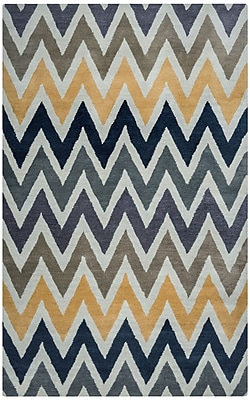 Rizzy Home Volare Collection 100% Wool 5'x8' Ivory (VOLVO817000280508)