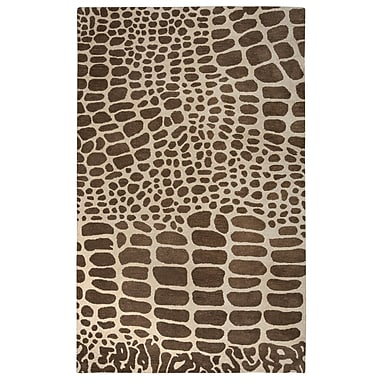 Rizzy Home Volare Collection 100% Wool 2' x 3' Brown (VOLVO817700120203)