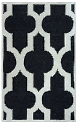 Rizzy Home Volare Collection 100% Wool 9'x12' Black (VOLVO818600160912)