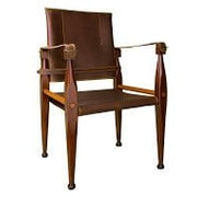 Authentic Models Bridle Leather Campaign Bankers Chair